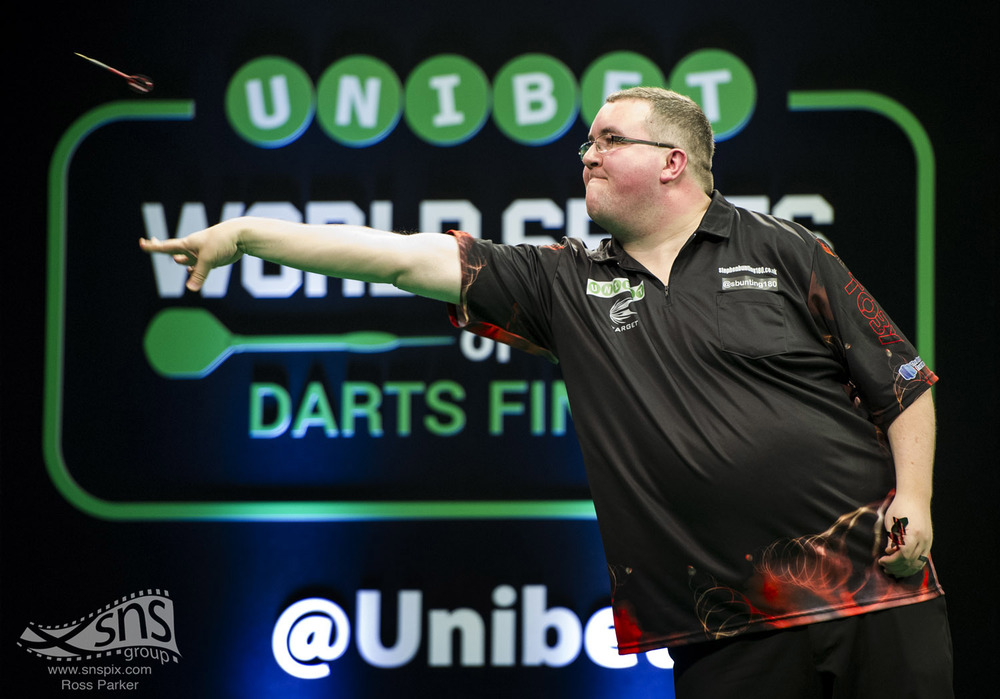 Stephen Bunting in action during the World Series of Darts in Glasgow.