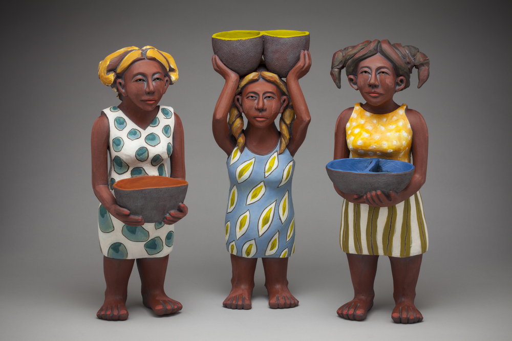 Three Women with Baskets, 2011