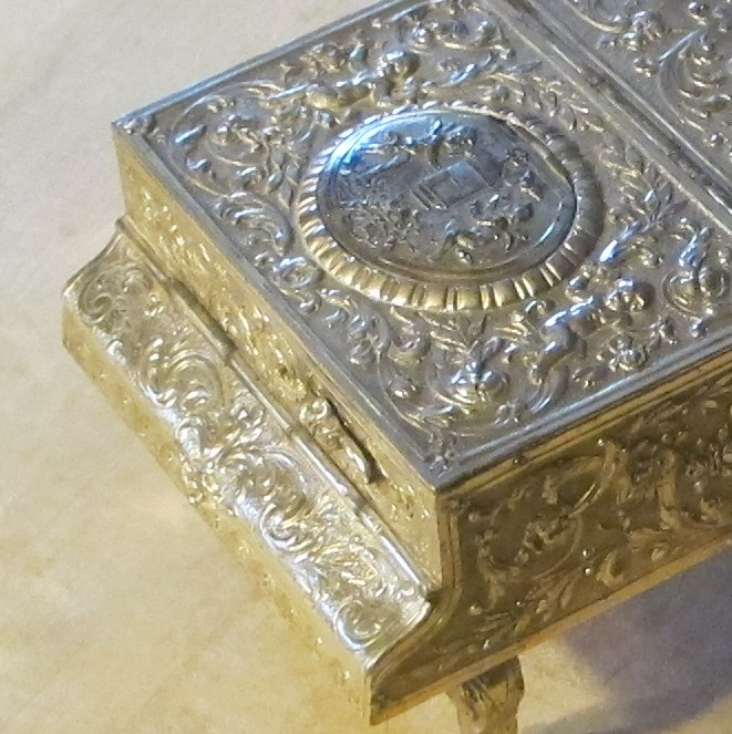 Sterling Silver Piano with Singing Bird