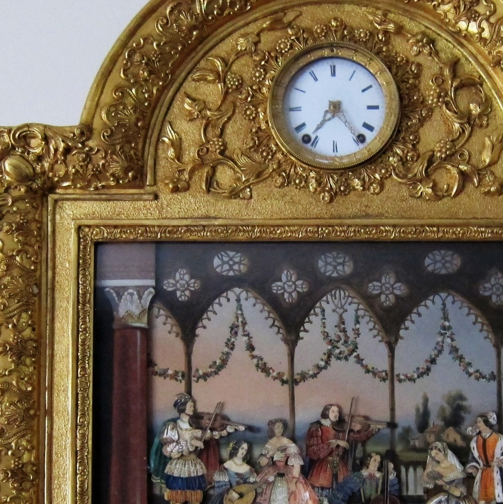 Mechanical Picture with Clock & Music