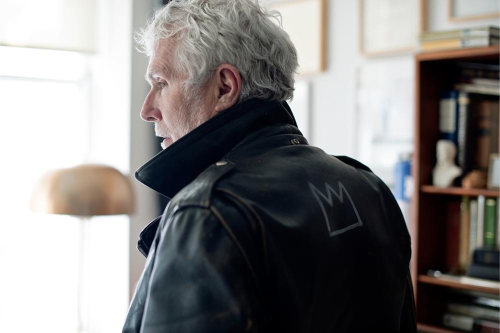 Glenn O'Brien, photographed for GQ, New York, 2014