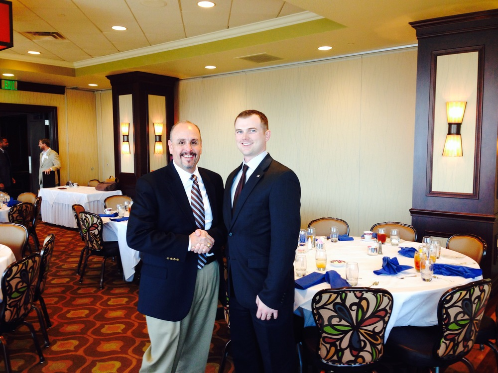 Greg McClure with TSPE Fort Worth VP Jonathan Russell