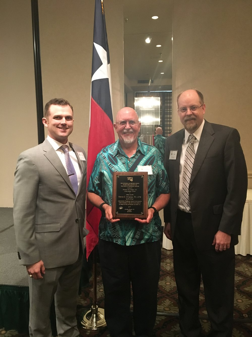 TSPE Richard Van Trump Award, Steven E. Eubanks, P.E., CFM, City of Fort Worth