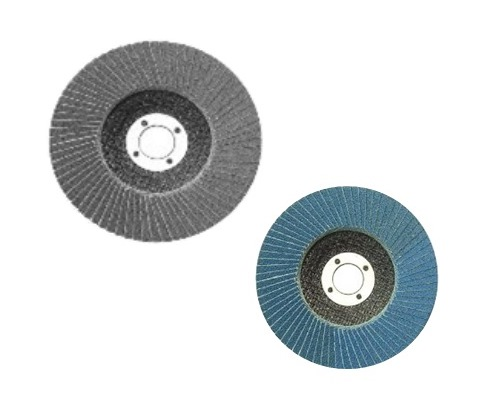 """FLAP DISC & SURFACE DISC    4  """" Grit#  :   80, 120, 240, 320, 400, 600    7"""" Grit#  :   80, 120, 240, 320, 400, 600    Application:  Surface coating removal such as: Ferrous and Non-Ferrous Metal, Stone products: Stone, Marble, Granite, Glass, Rust, Paint (removal from wood, metal, and concrete)"""