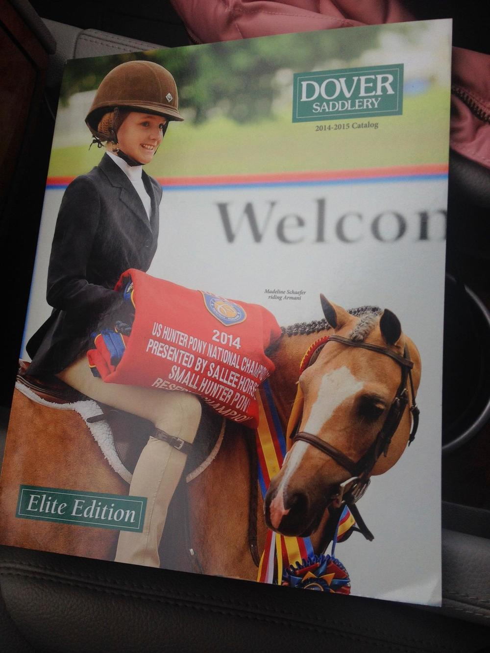 Armani on the cover of Dover Catalog