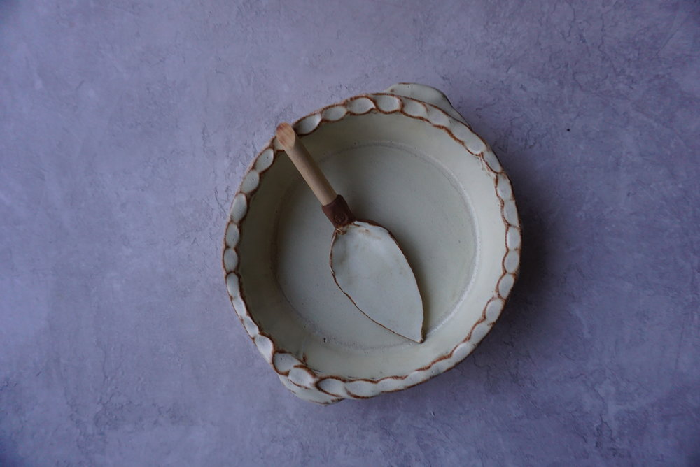 """Pie Plate w/server approx. 10"""" long x 3"""" deep multiple glaze options available SRP $88 USD"""