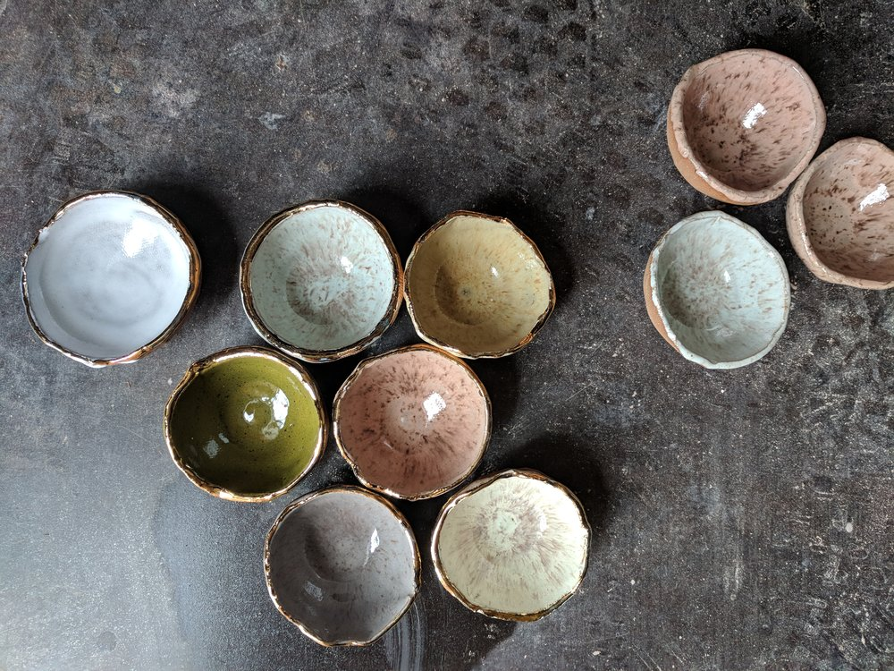 """pinch/ring dish 3"""" dia multiple glaze options available SRP $12 USD"""