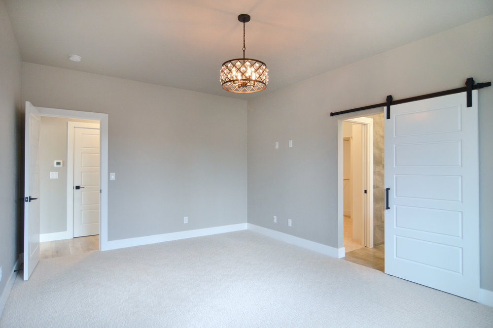 Master Bedroom and Master  Bath with walk in closet.