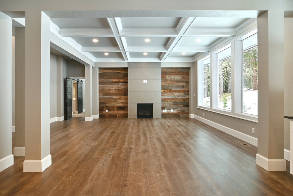 Great room and entry to the master suite.