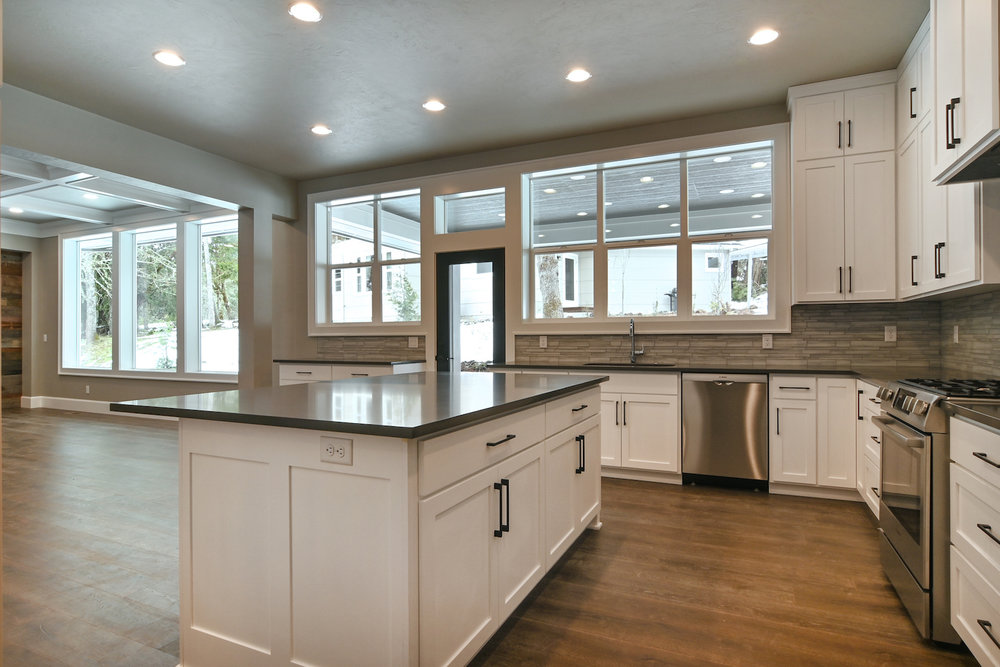 Chef's kitchen with wonderful counter space to cook and entertain.