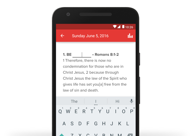With a church app, users can easily take sermon notes with our fill in the blank tool. You can also add your weekly bulletin to your app.