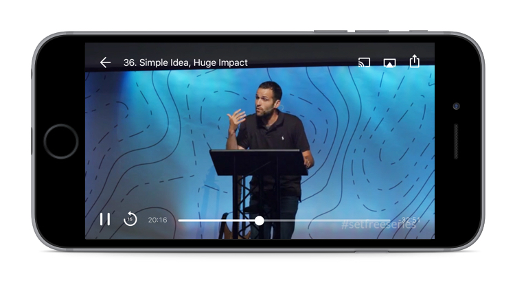 Built for churches and ministries, our media player will allow users to watch sermons and media in your app.