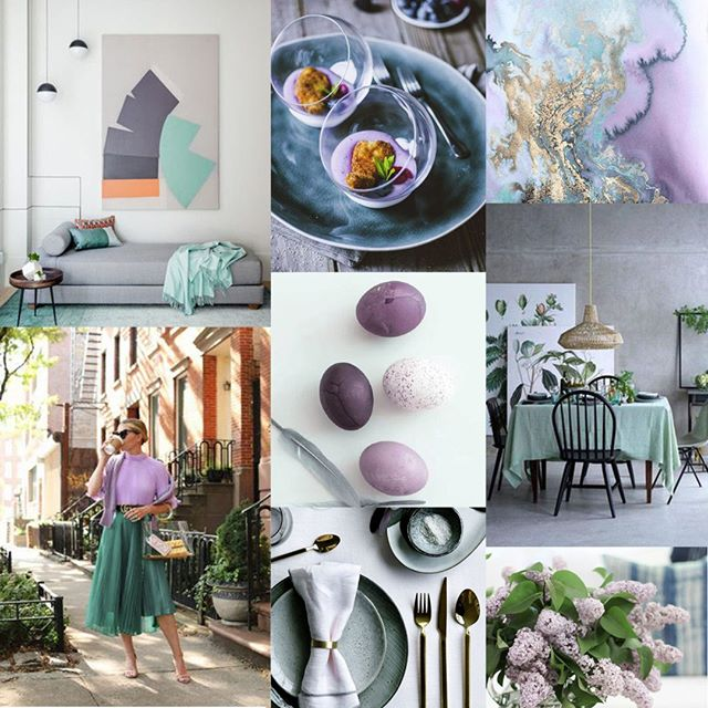 After a long and well needed break, I'd like to start the year with a fun Easter Mood Board to inspire you all. Lilac has been recently appearing on the runway at Paris fashion week, why not take a cue from them and make it festive! Loving Lilac paired with a beautiful shade of sea glass or sage. #ccmoodboards