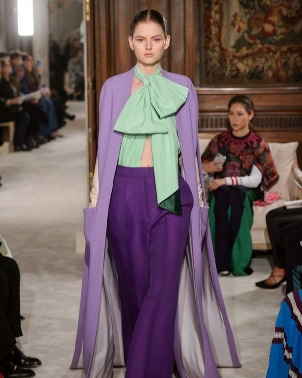 Inspiration of the day: @Valentino is what inspired us to create a fashion worthy table for easter. Shades of Lilac, Aubergine and Sage. Check!