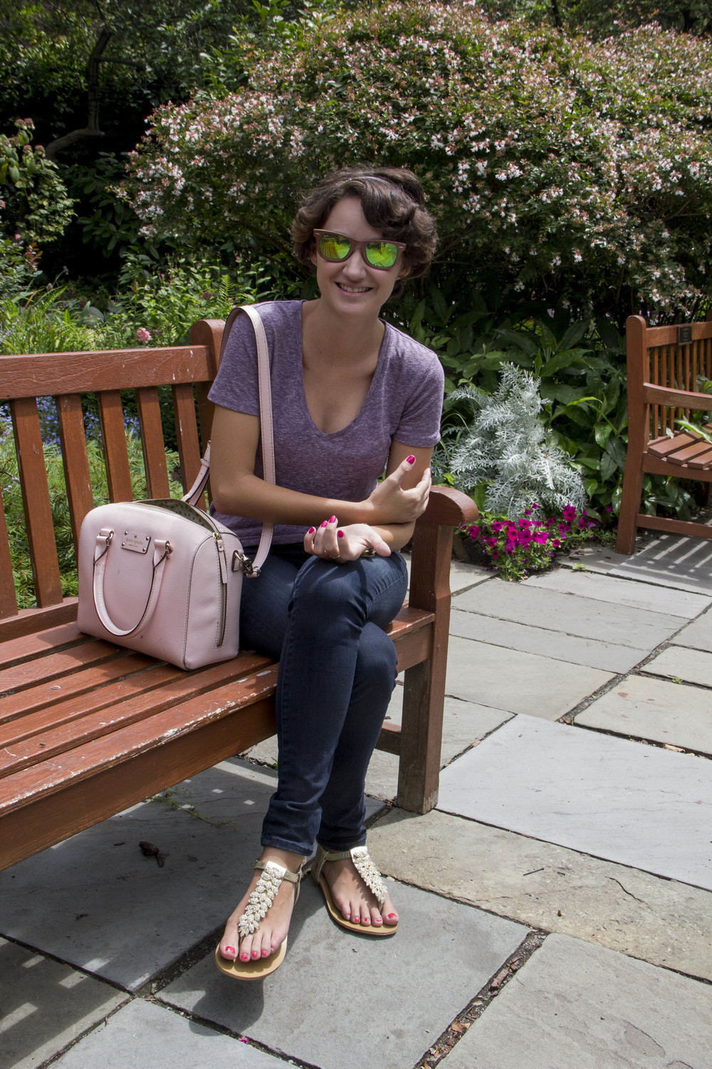 The beautiful Michelle, in her baller Ray Ban Cosmos. Too city for me to pull off, but fresh to death.