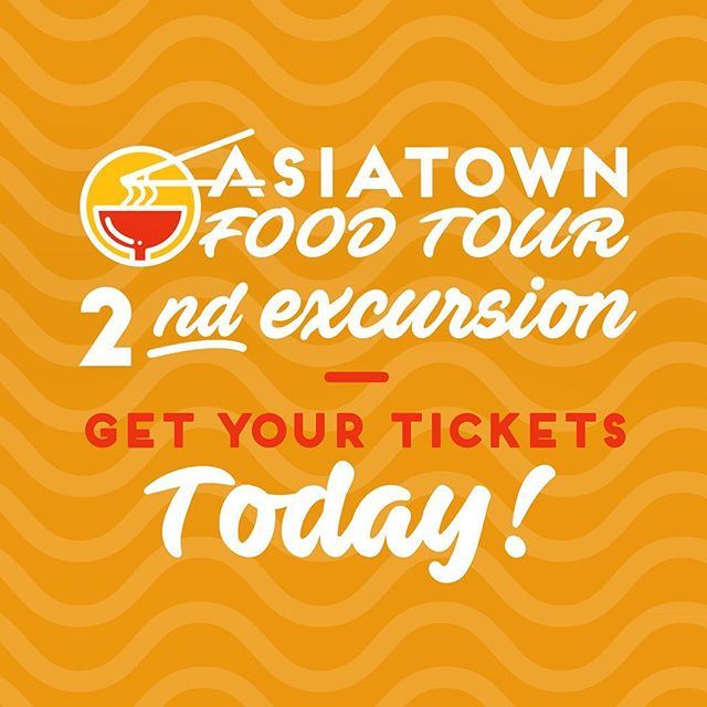Have you gotten your tickets yet for the next Asiatown Food Tour? New restaurants, new routes, same great experience. Get yours today! Link is in our bio above!