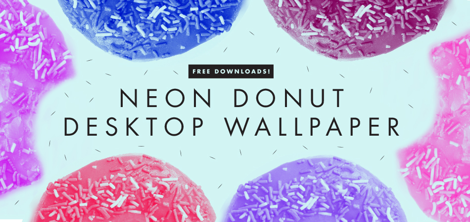 Neon Donut Desktop Wallpaper | Freckle & Fair