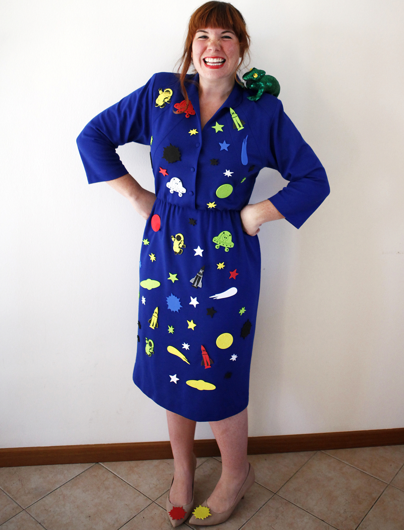 Last minute Ms. Frizzle Halloween costume