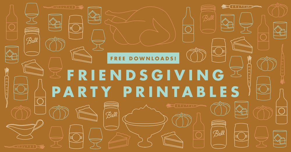 Friendsgiving party printables | Freckle & Fair