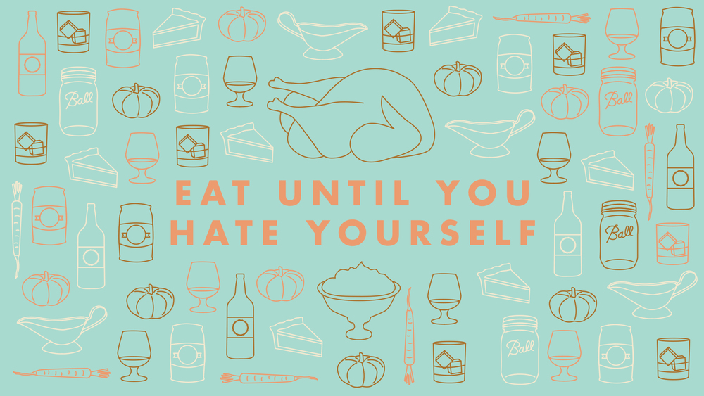 Eat Until You Hate Yourself desktop wallpaper | Freckle & Fair