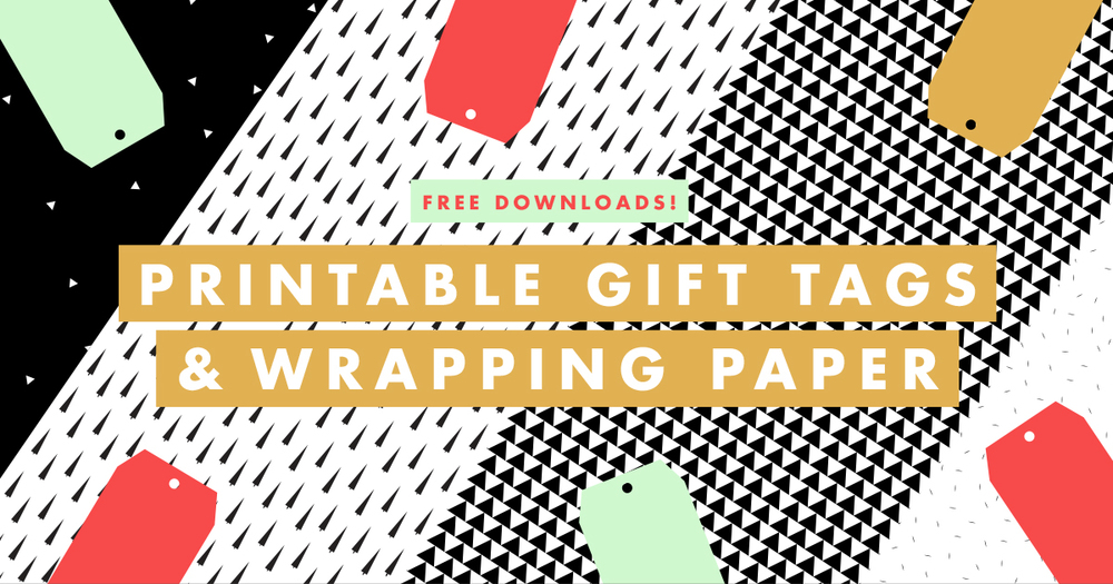 Printable gift tags & wrapping paper | Freckle & Fair