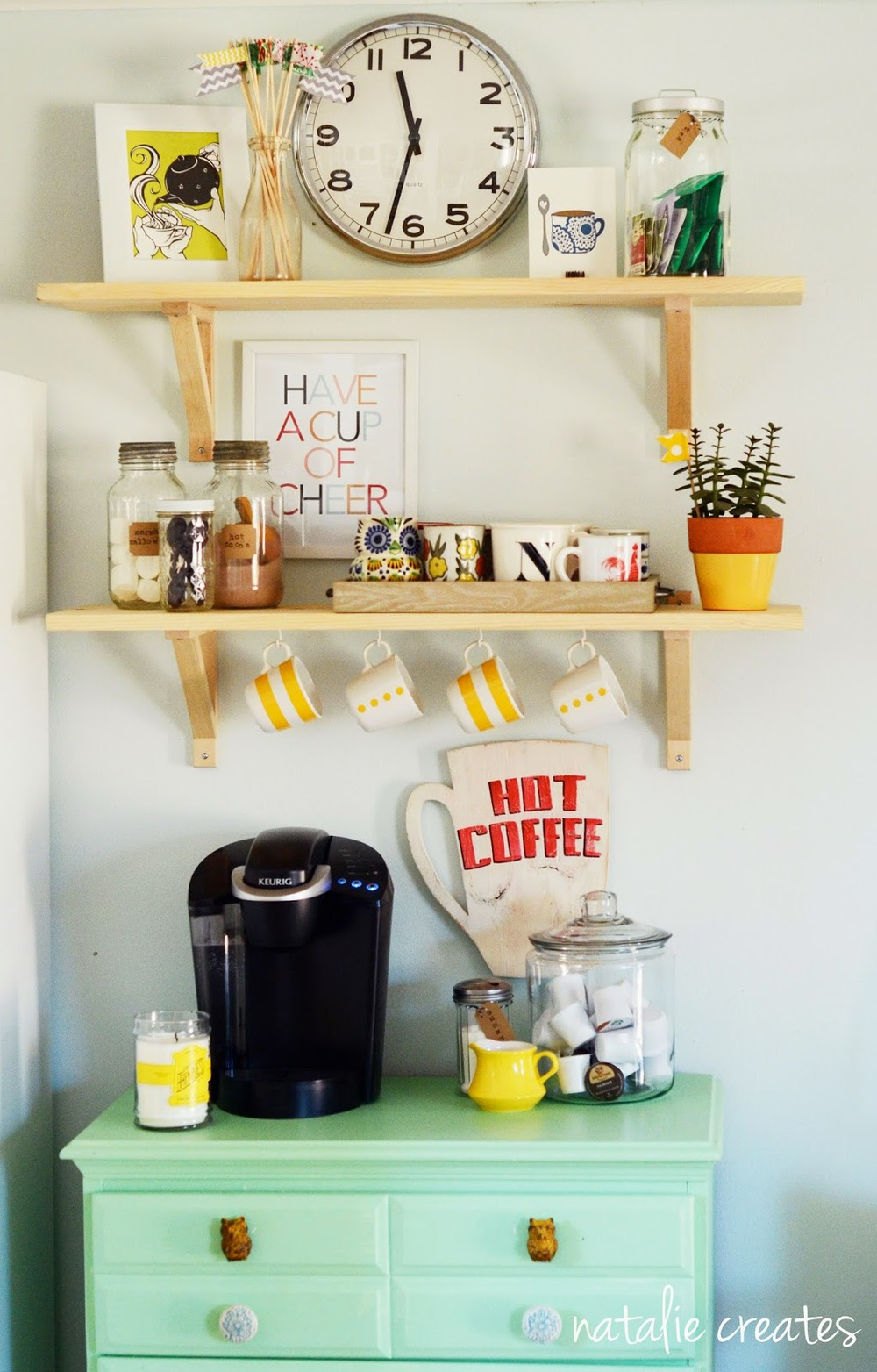 Bright vintage coffee bar