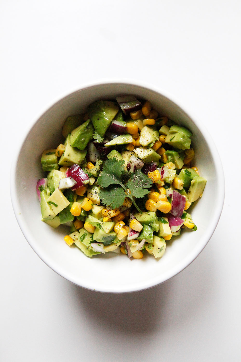 Avocado corn salsa | Freckle & Fair