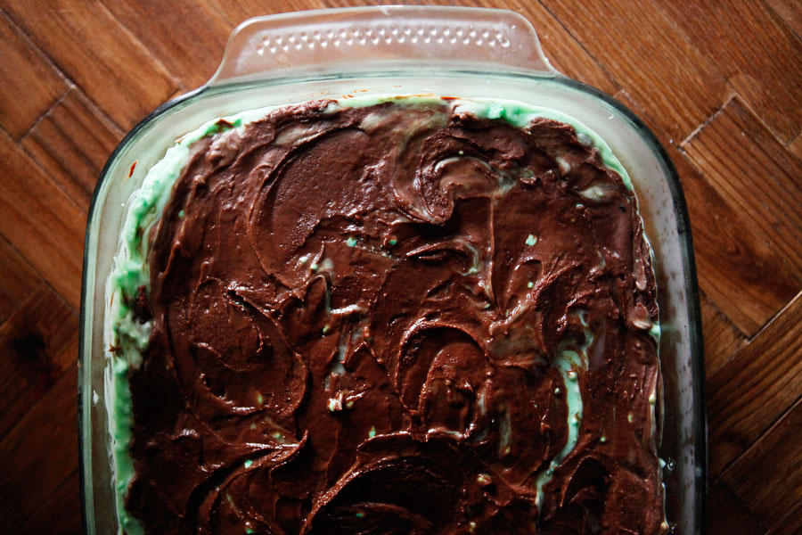 Creme de menthe brownies for St. Patrick's Day | Freckle & Fair