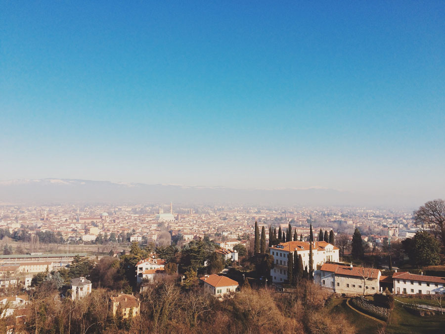 View of Vicenza from Monte Berico | Freckle & Fair