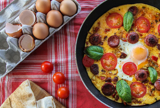 Chorizo frittata from Eat, Drink, Paleo