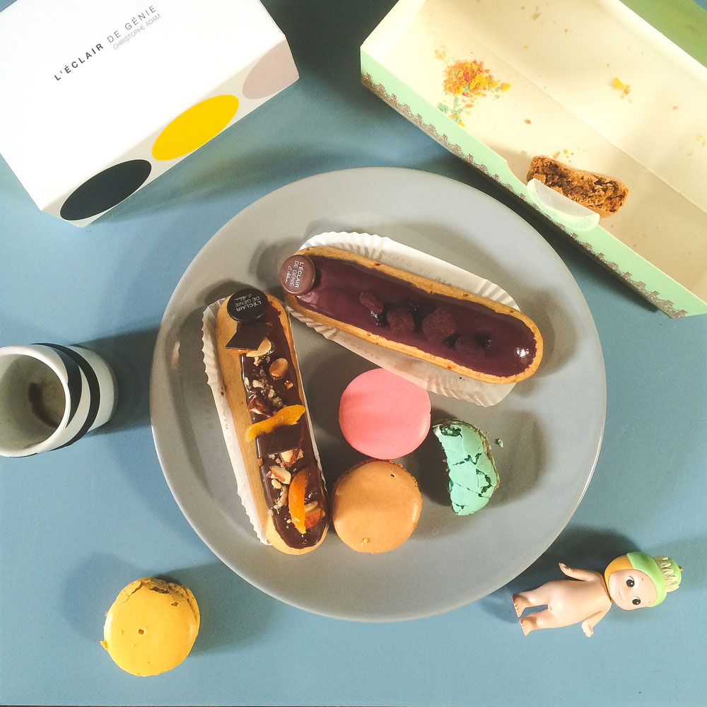 Eclairs and macarons in Paris | Freckle & Fair