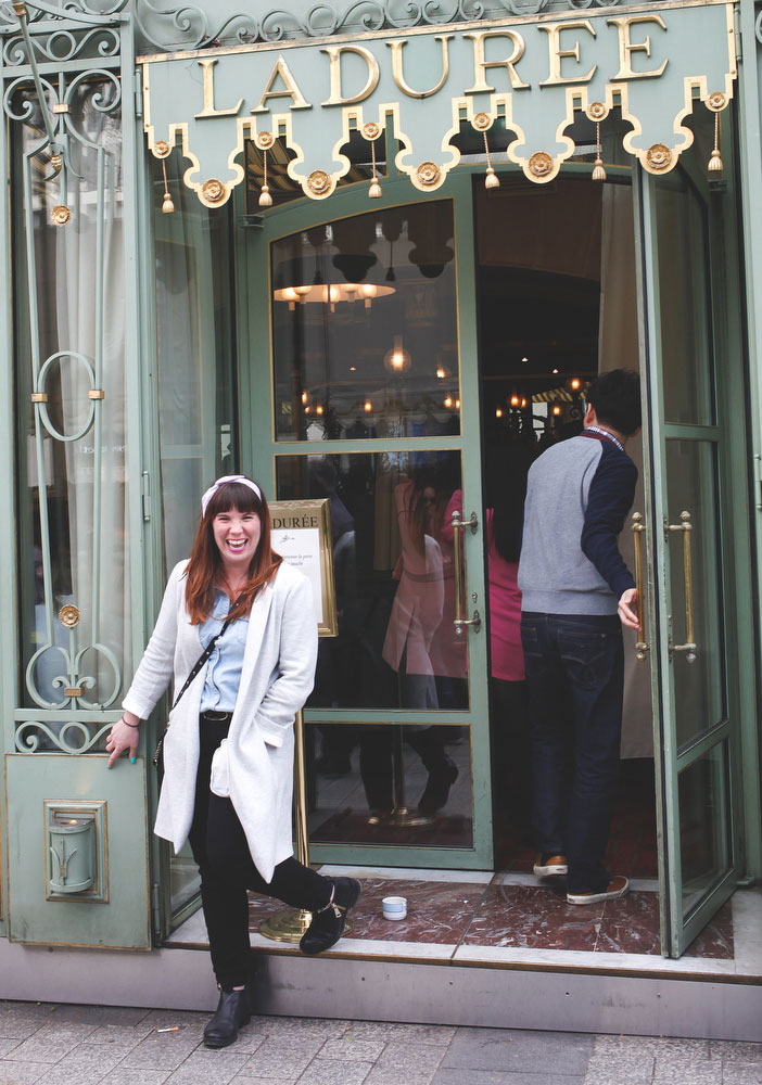 Ladurée on the Champs-Elysees in Paris | Freckle & Fair