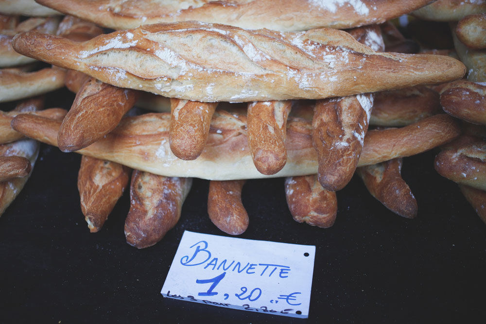 French baguettes at the Richard Lenoir market | Freckle & Fair