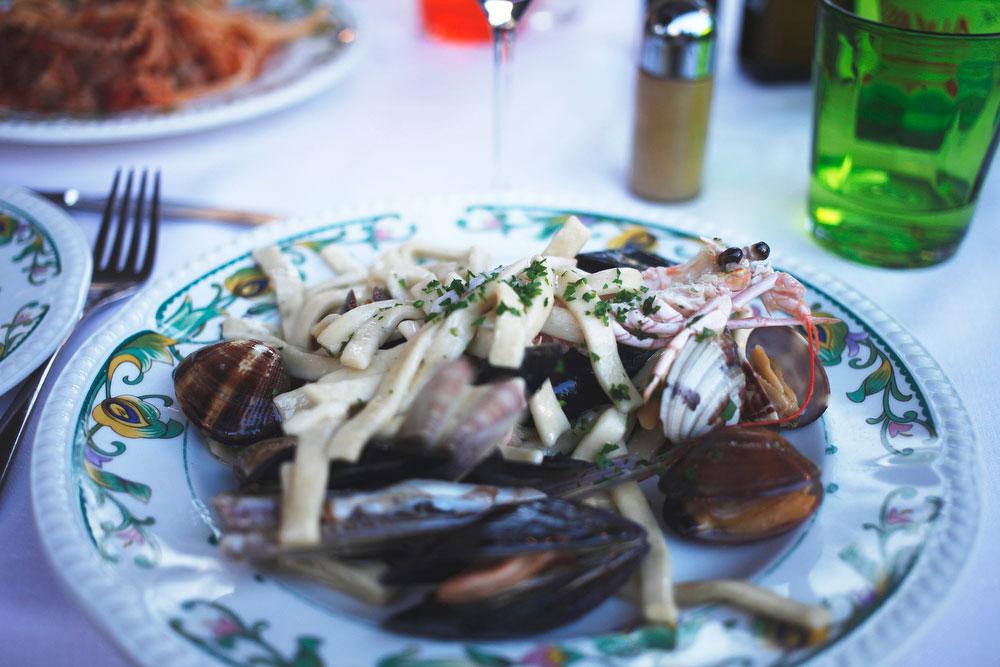 Fruitti di mare pasta on the Amalfi Coast | Freckle & Fair