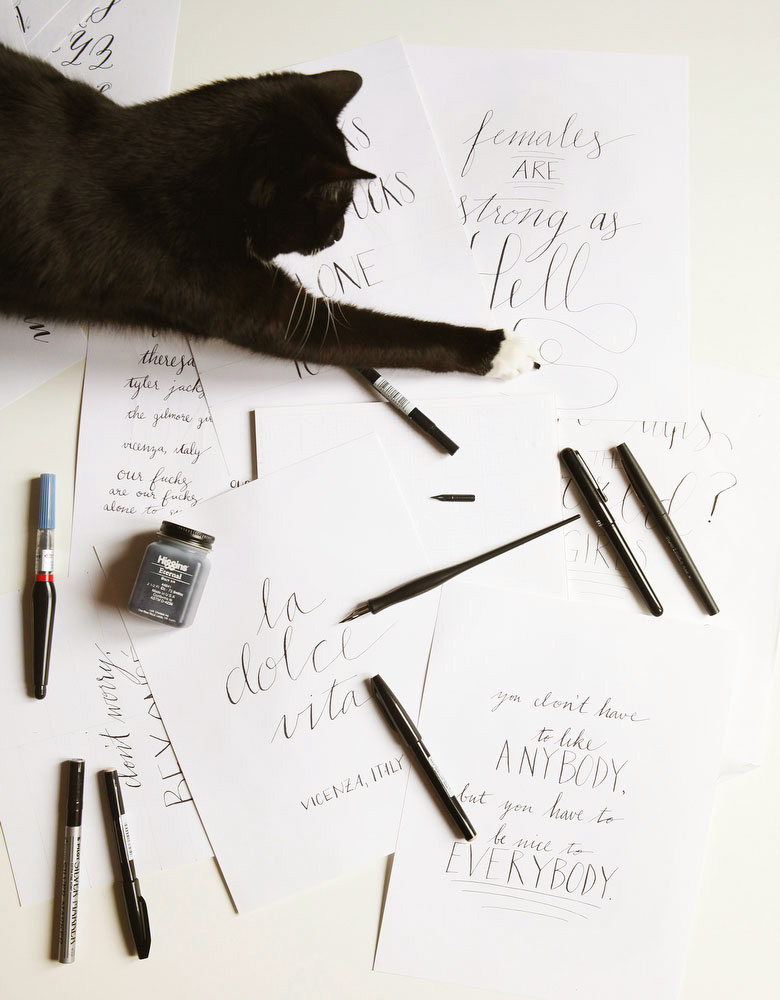 Calligraphy lettering a primer for beginners freckle