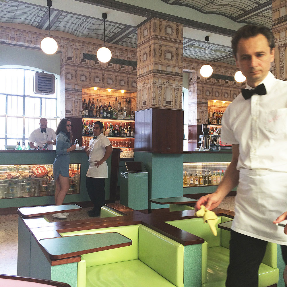 Wes Anderson's Bar Luce in Milan | Freckle & Fair