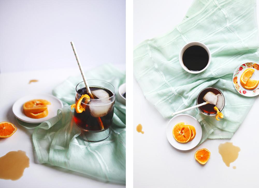 Coffee bourbon soda | Freckle & Fair