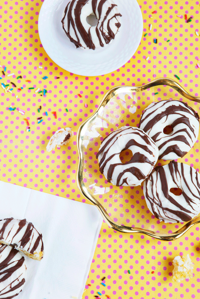 Zebra Cake donuts | Freckle & Fair