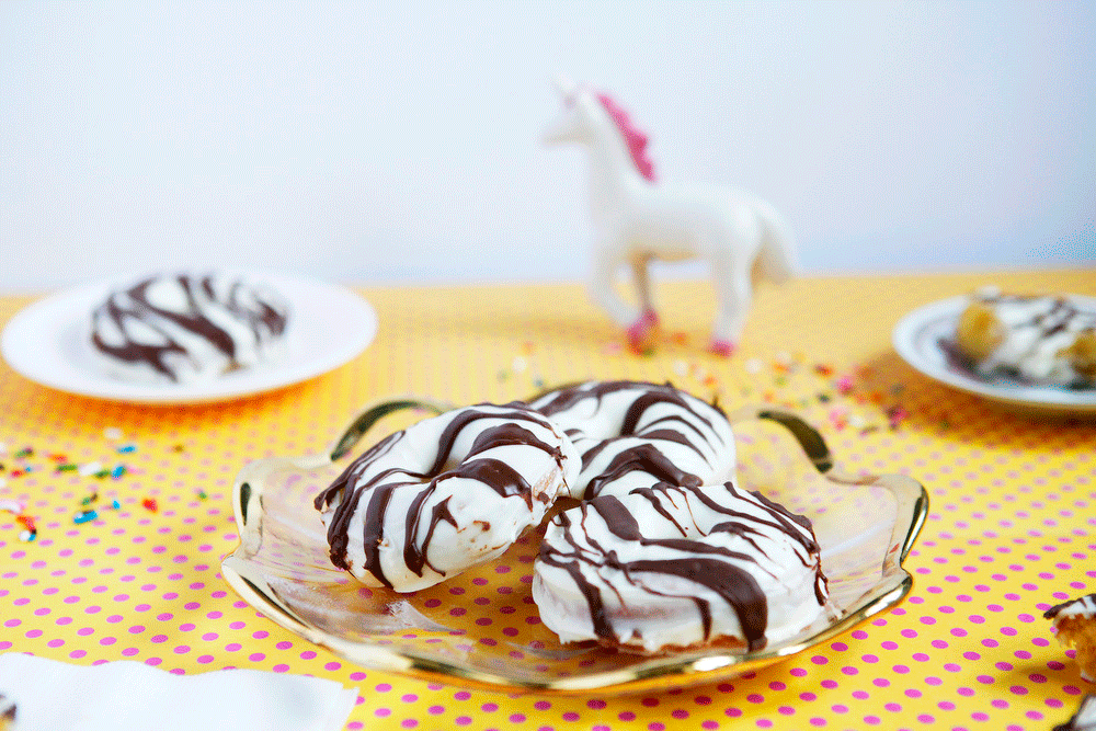Homemade Zebra Cake donuts | Freckle & Fair