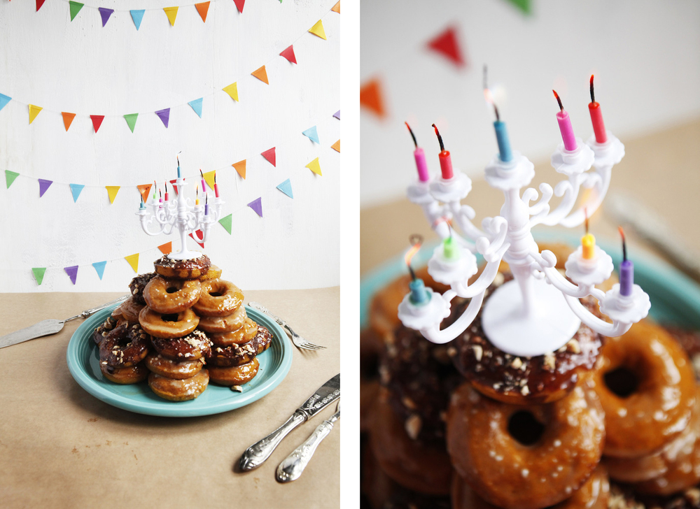 Our First Blog Birthday Pumpkin Donut Tower Cake With Nutella