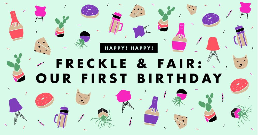 Freckle & Fair's first blog birthday party | Freckle & Fair
