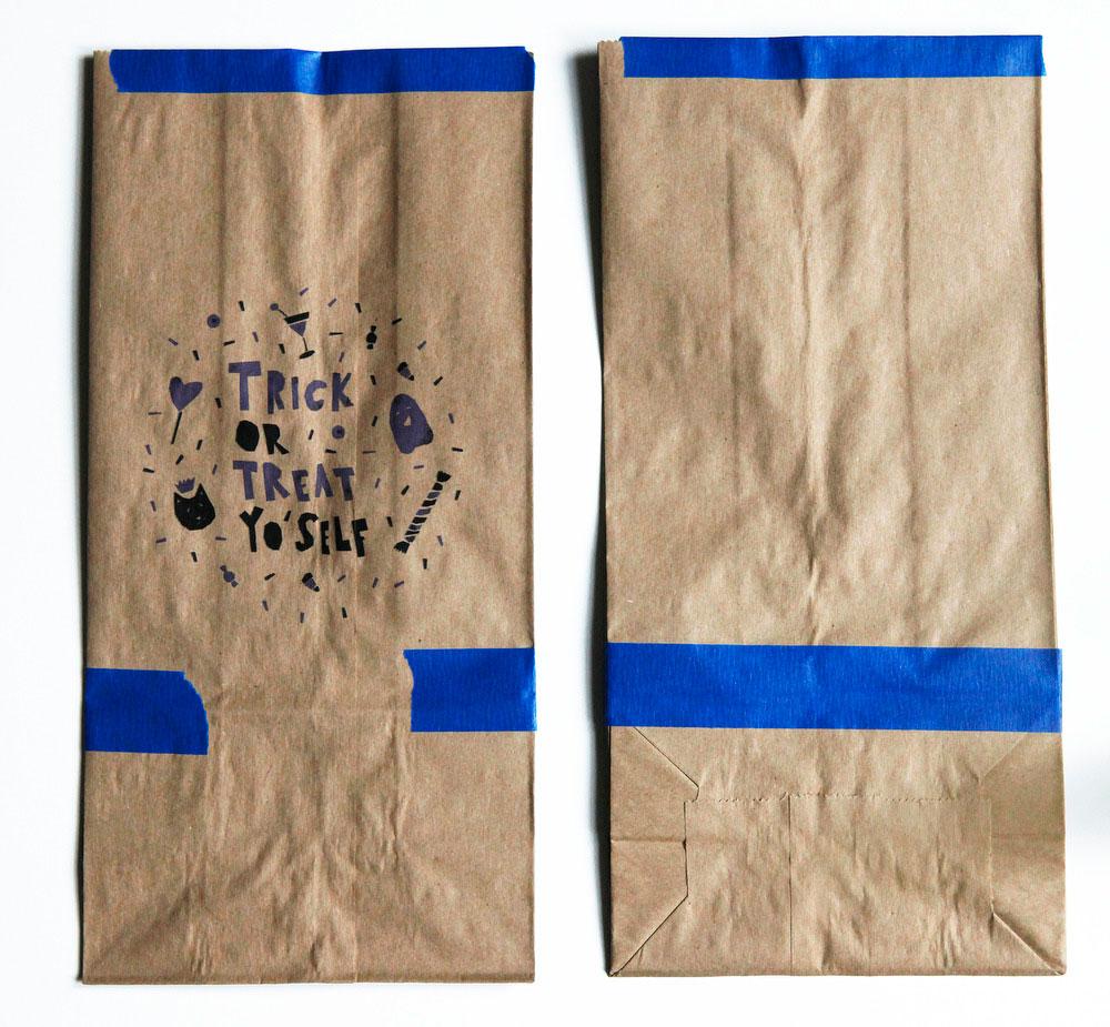 Treat or treat yo'self Halloween treat bags | Freckle & Fair