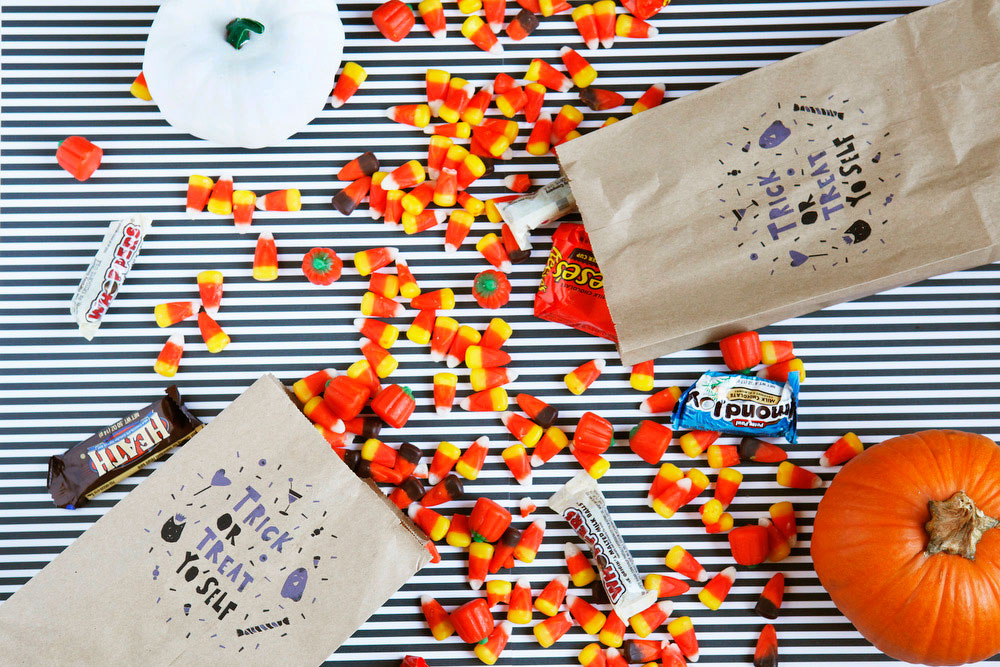 Trick or Treat Yo'Self Halloween treat bags | Freckle & Fair