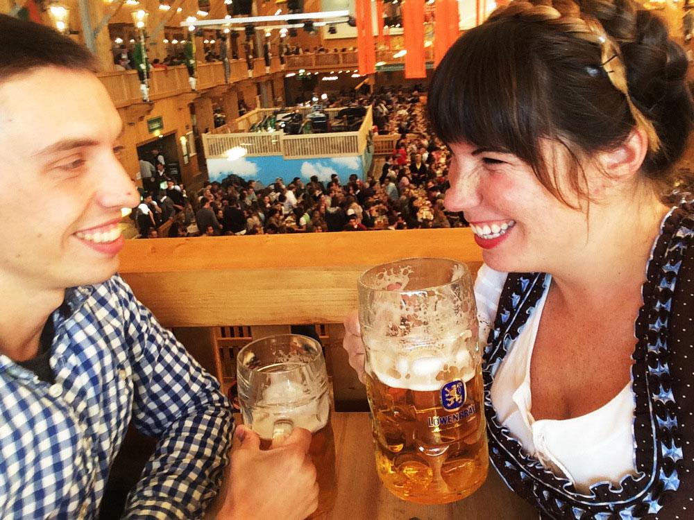 Schützen-Festzelt tent at Oktoberfest in Munich | Freckle & Fair