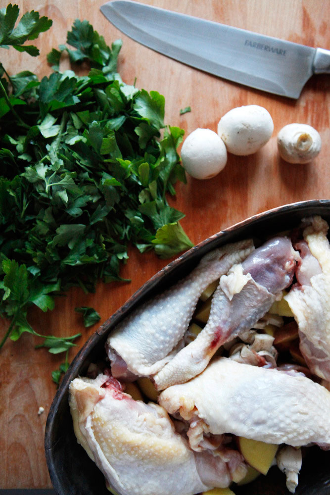 Roasted gorgonzola mascarpone chicken with mushrooms | Freckle & Fair