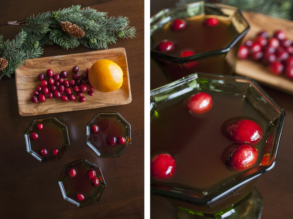 Cranberry Rob Roy with scotch and orange | Freckle & Fair