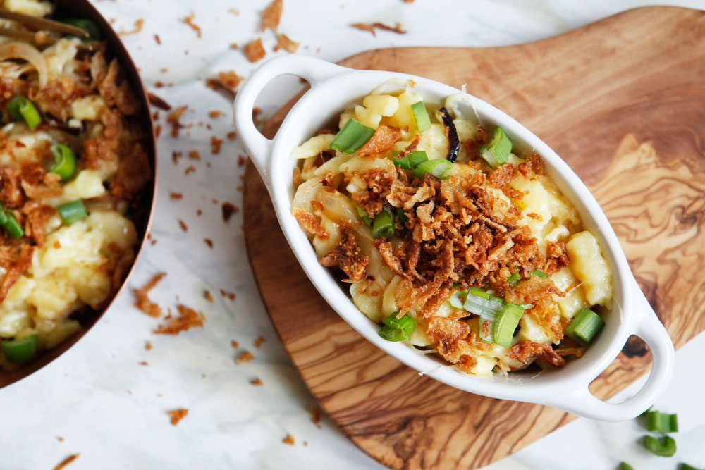 Kässpatzen, or German mac & cheese | www.freckleandfair.com