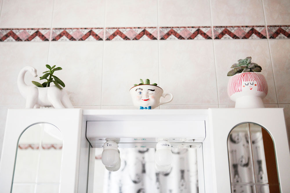 Whimsical pink bathroom with Scandinavian details | freckleandfair.com