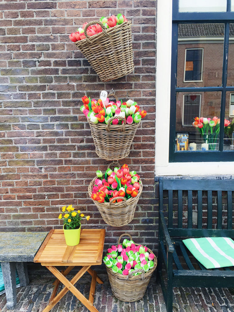 Wooden tulips in the Netherlands | freckleandfair.com