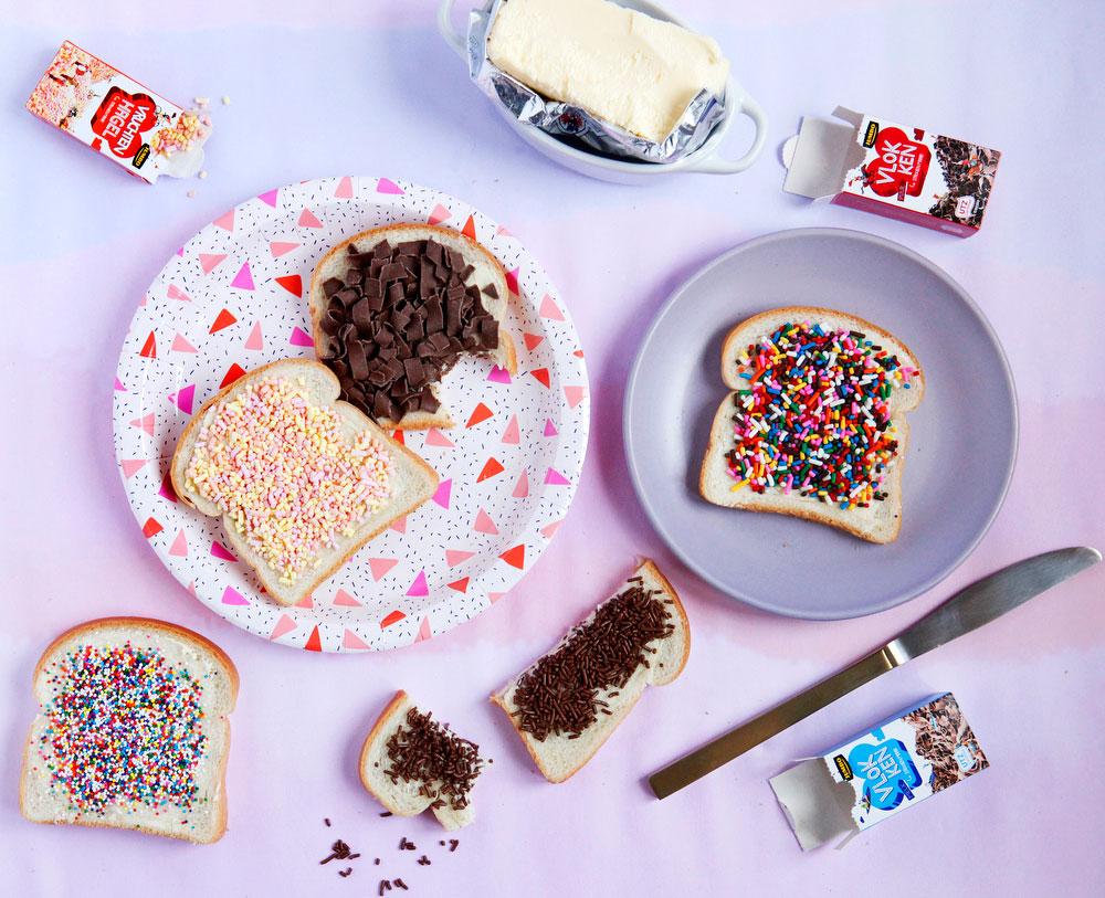 Hagelslag, or Dutch sprinkle bread   freckleandfair.com